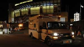 Ambulances took a number of sick people at