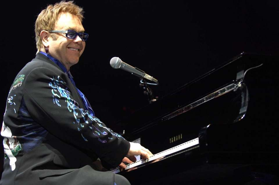 Elton John performs at the Coliseum on Nov.