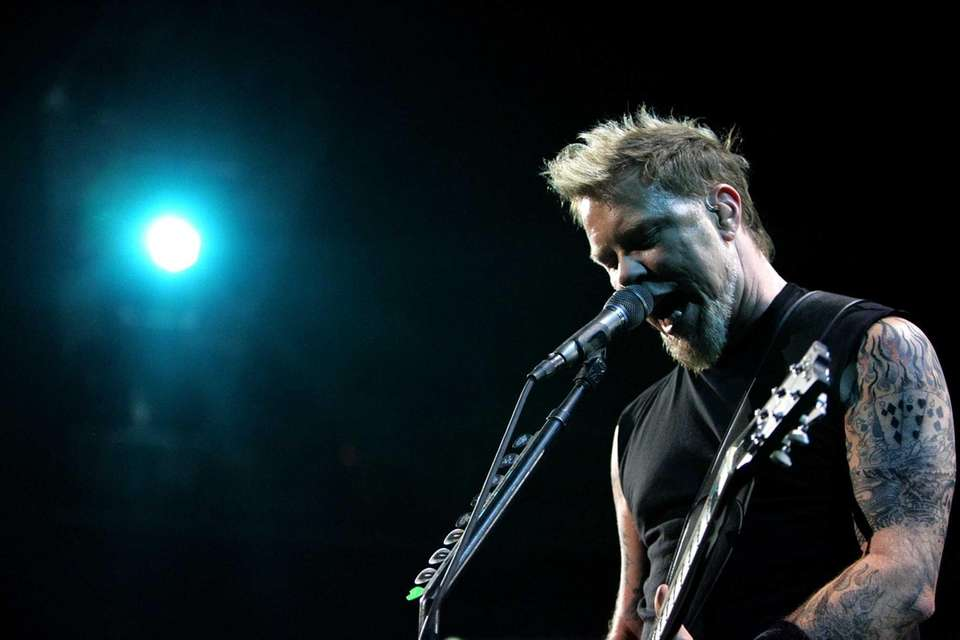 Metallica's James Hetfield performs at the Coliseum on