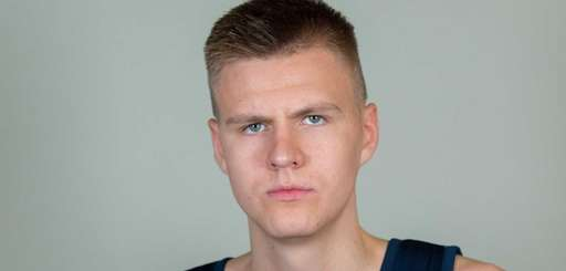 NBA draft prospect Kristaps Porzingis attends a workout
