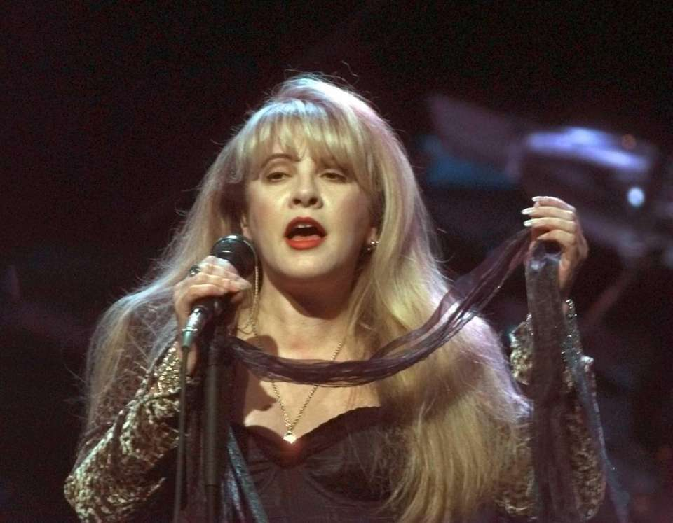 Stevie Nicks of Fleetwood Mac performs at the