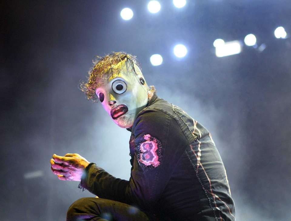 Slipknot performs during the Rockstar Energy Mayhem Festival