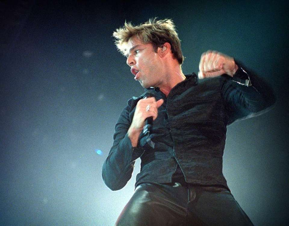 Ricky Martin performing at the Coliseum in Uniondale