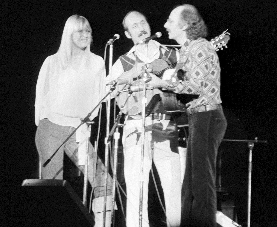 Folk trio Peter, Paul and Mary (Mary Travers,