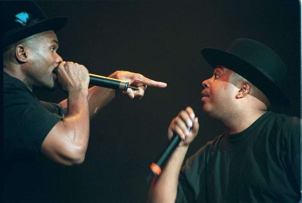 Run DMC performs during The Family Values concert