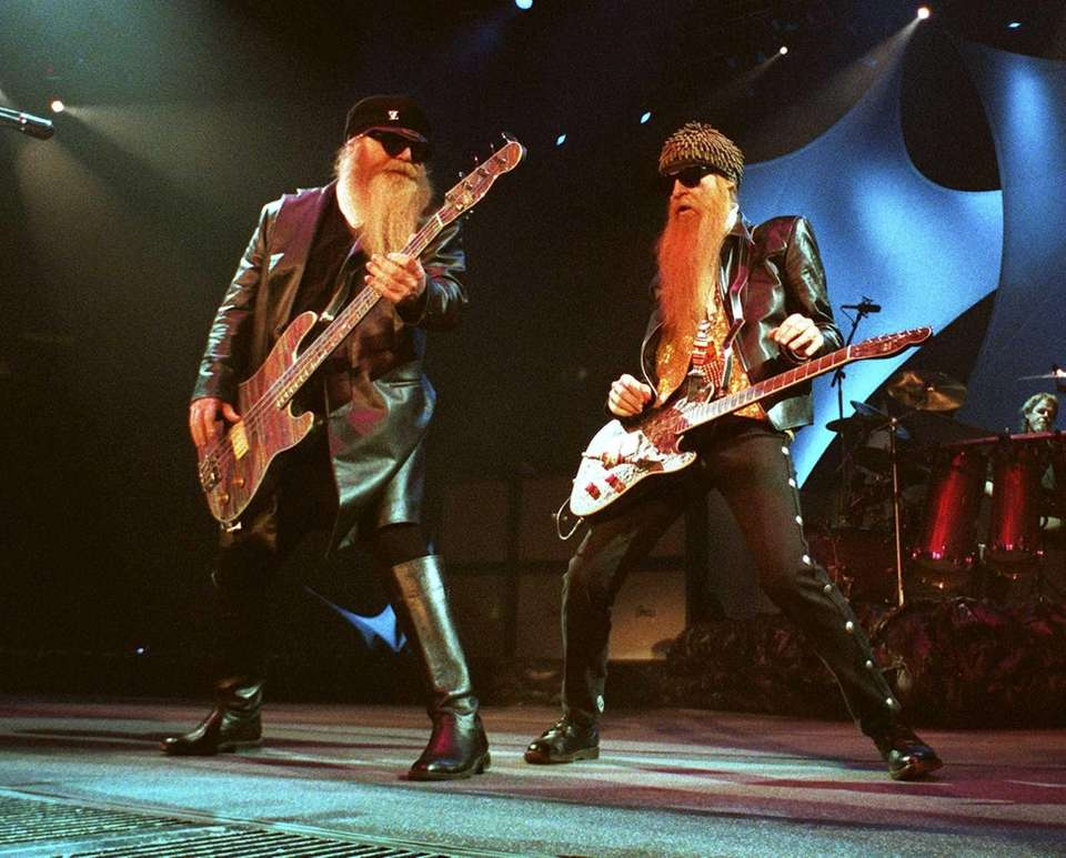 Billy Gibbons, left, and Dusty Hill of ZZ