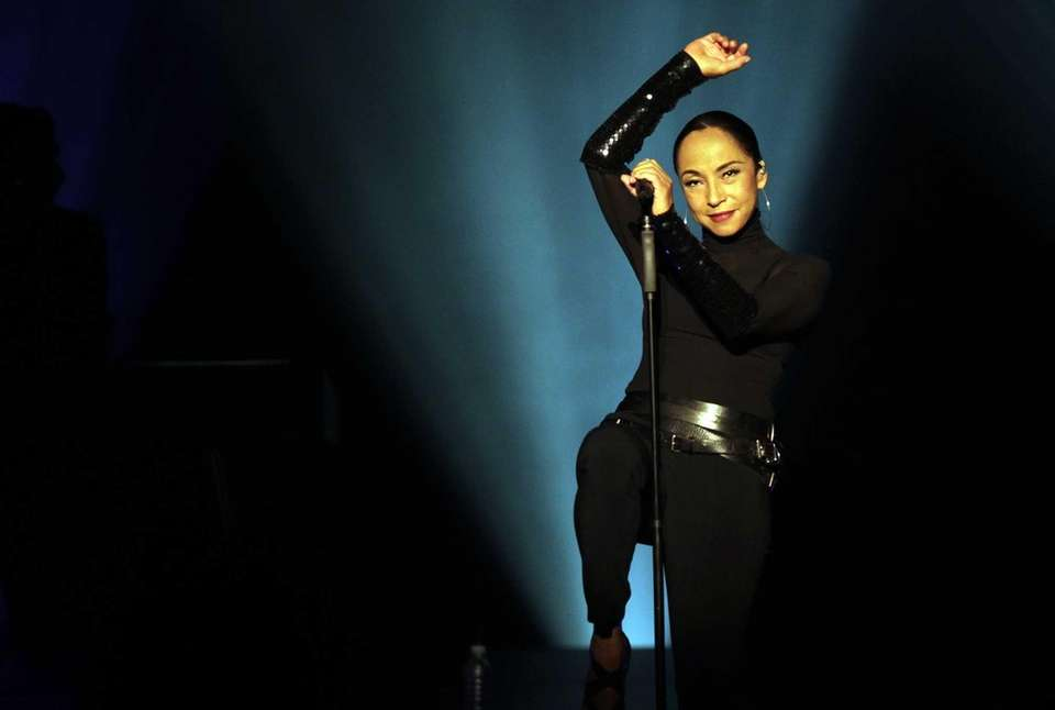 Sade performs at Nassau Coliseum in Uniondale, on