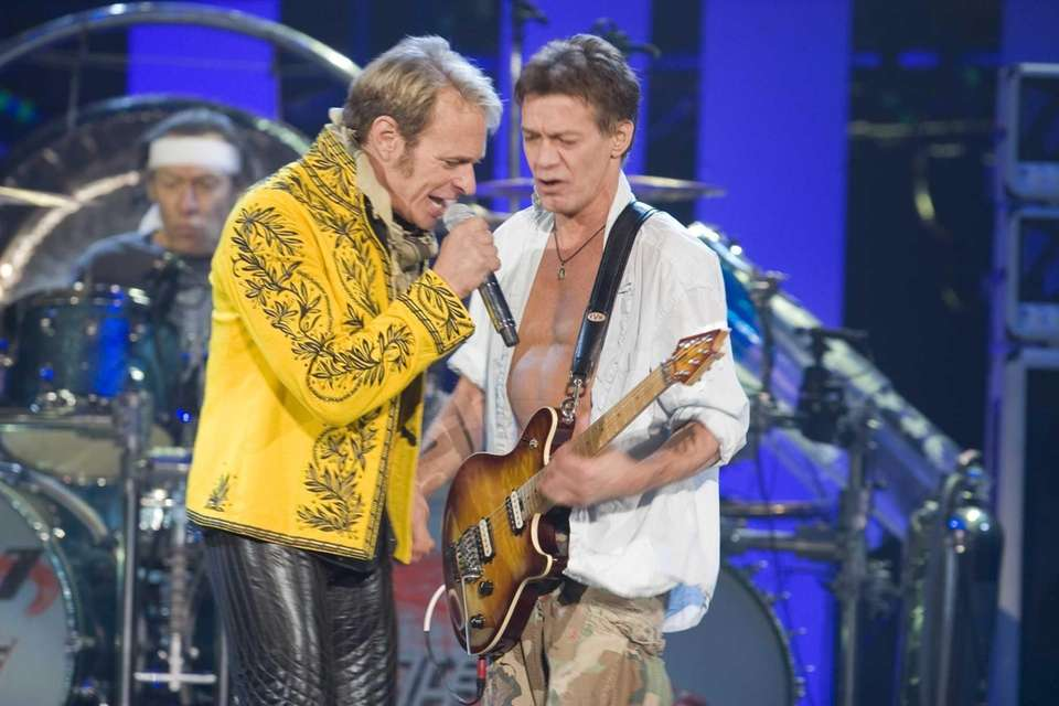 From left, frontman David Lee Roth and guitarist