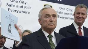 New York City Police Commissioner William J. Bratton,