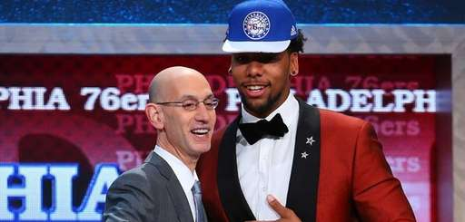 Jahlil Okafor of Duke shakes hands with NBA