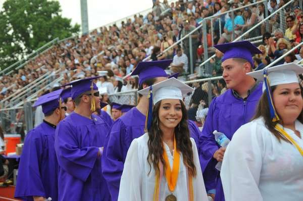 Islip High School's Class of 2015 enters its