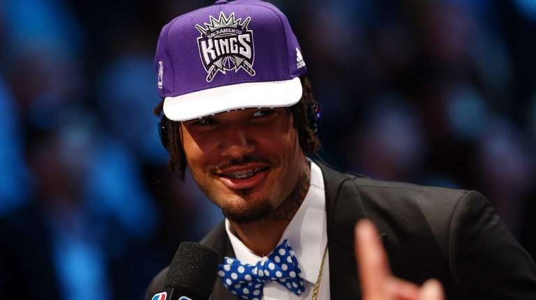 Willie Cauley-Stein speaks to the media after being