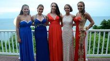 Hampton Bays High School students Jean Louise Catena,