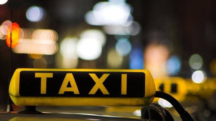 Taxi cab.