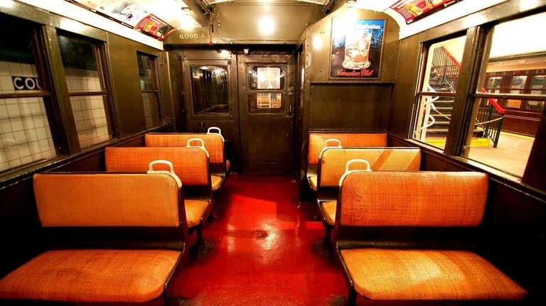 Inside the roomier BMT D-Triplex subway car that