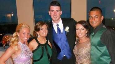 Eric Braat poses with classmates during the Mount