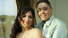 Wantagh engaged couple Brittany Alvarado, 18, and Christina