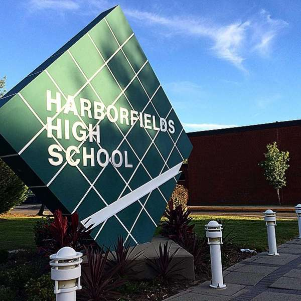 Harborfields High School is shown in this undated