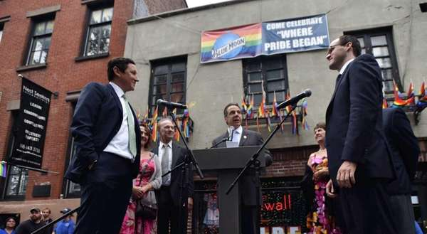 Gov. Andrew Cuomo officiates Sunday, June 28, 2015,