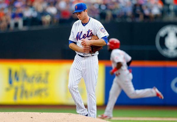 Steven Matz of the New York Mets allows