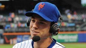 Mets starting pitcher Steven Matz is interviewed after