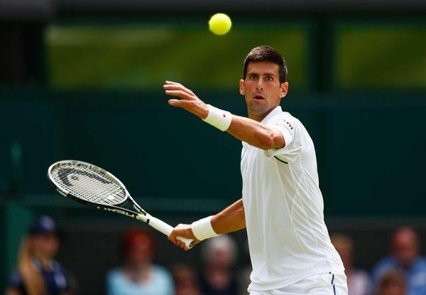 Defending champion Novak Djokovic of Serbia in action