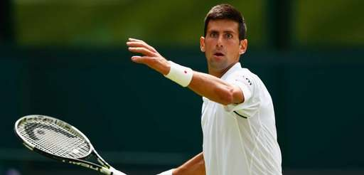 Defending champion Novak Djokovic of Serbia in action
