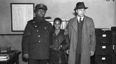 Samuel Battle, left, with Lino Rivera, center, a
