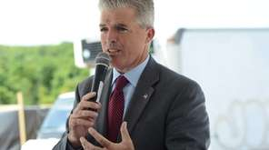 Suffolk County Executive Steve Bellone speaks in Yaphank