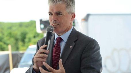 Suffolk County Executive Steve Bellone speaks in Yaphank
