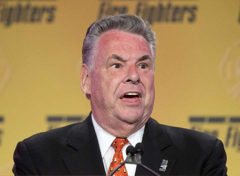 Rep. Peter King speaking in Washington, Tuesday, March