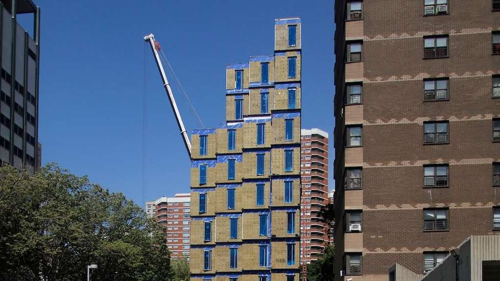 Nyc 39 s first micro apartments complex slated to be fully for Panelized homes new york