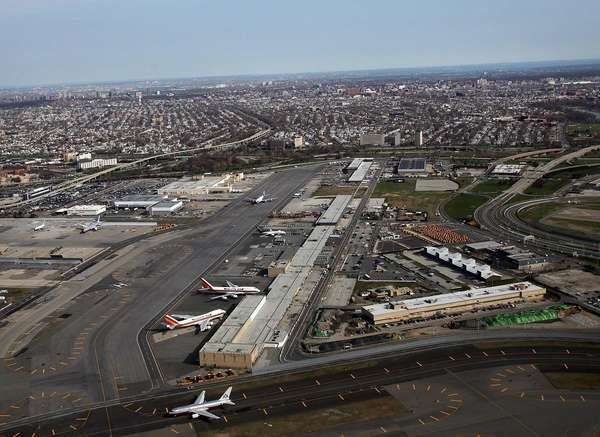 John F. Kennedy Airport in Queens is seen