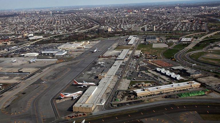 John F. Kennedy Airport in Queens is seen