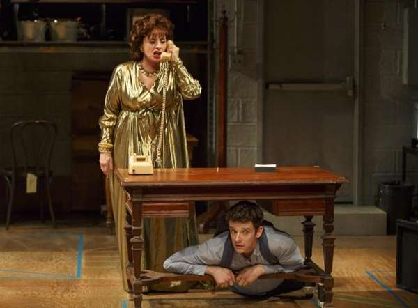 Patti Lupone, left, and Michael Urie perform in