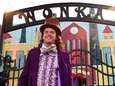 Andy Fortier, dressed as Willy Wonka, greets guests