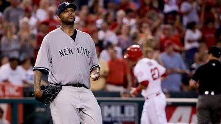 New York Yankees starting pitcher CC Sabathia, left,