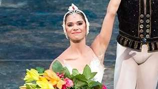 Misty Copeland and James Whiteside acknowledge the audience