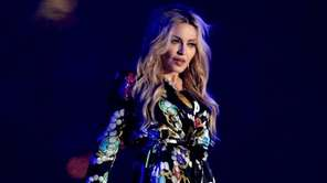 Madonna performs on Sunday, April 12, 2015, in