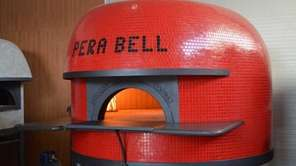 The wood-burning pizza oven at the new PeraBell