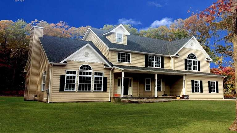 This five-bedroom house in Manorville recently sold for