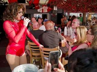 Tina Burner performs at Cherry's on the Bay