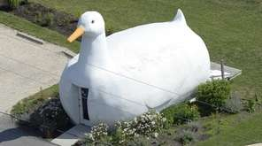 The Big Duck, originally constructed in 1931, is