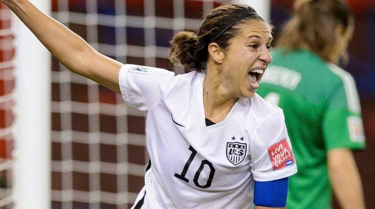 Carli Lloyd of the United States celebrates after