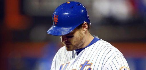 Daniel Murphy of the New York Mets walks