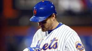Daniel Murphy of the New York Mets walks