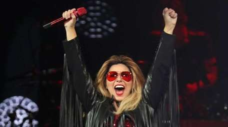 Shania Twain performs in concert at Madison Square