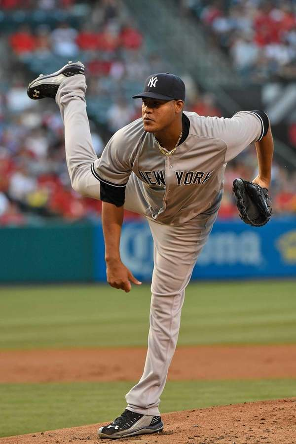 Ivan Nova of the New York Yankees pitches