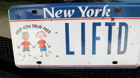 Photo of license plates specially ordered to use