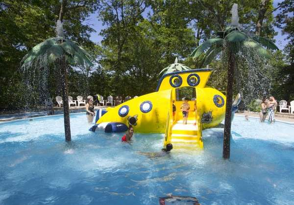 The yellow submarine replaced the elephant slide in